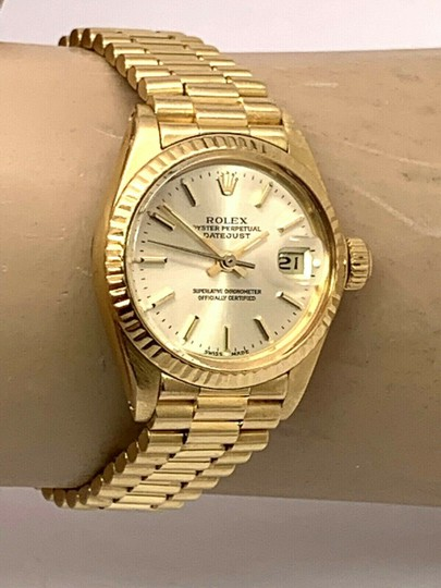 Rolex 1979 Rolex 6917 Ladies 18k Yellow Gold President Watch Oyster Datejust Image 8