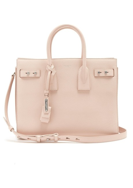 Item - Sac de Jour Tote Bag Ysl Souple Small Pink Leather Satchel
