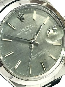Rolex Vintage 1969 Rolex Oyster Perpetual Date 1500 Grey Dial Men's Watch