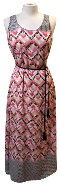 Item - Gray Pink White Long Casual Maxi Dress Size 12 (L)