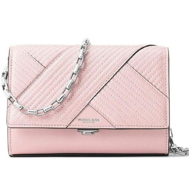 Item - Yasmeen Cameo Quilted Chevron French Calf Leather Clutch