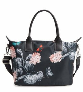 f4637f28141 Ted Baker Floral Rose Gold Hardware Shopper Small Narnia Tote in Black