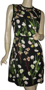 Victoria Beckham short dress black green, peach, orange Lilly Of The Valley Ropical Leaves Yellow Roses Yellow Daffodils Pink Peonies on Tradesy