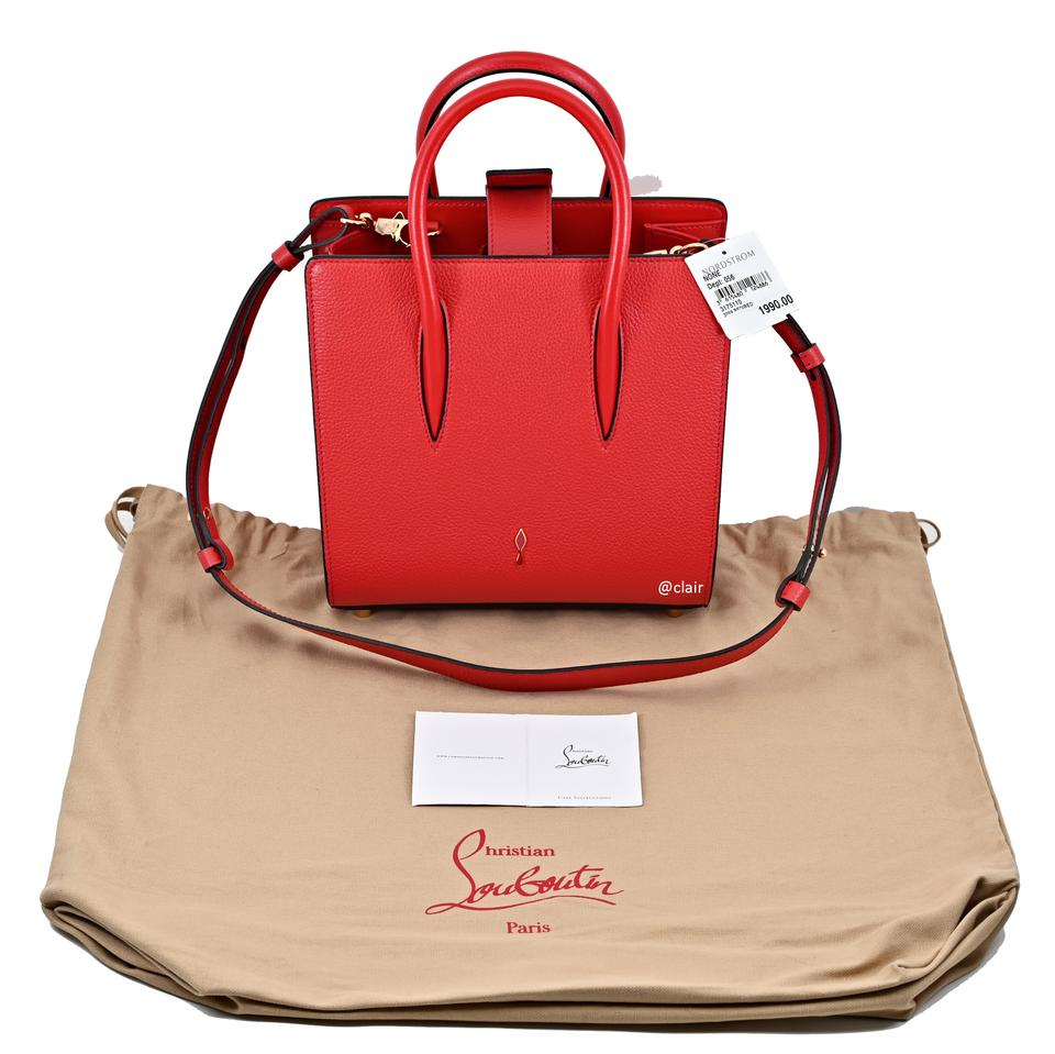 5f9d572129c Christian Louboutin Small Paloma Empire Red/ Red Leather Satchel 15% off  retail