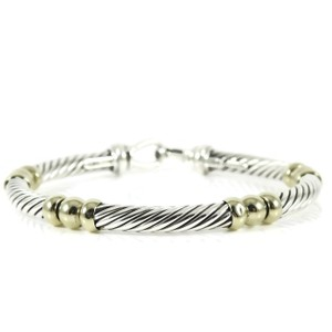 David Yurman David Yurman Sterling Silver 14K Yellow Gold Hampton Bracelet