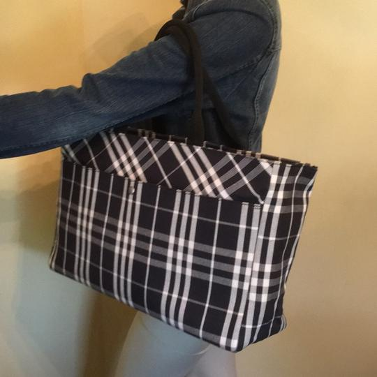 Burberry Tote in Black and White Image 1