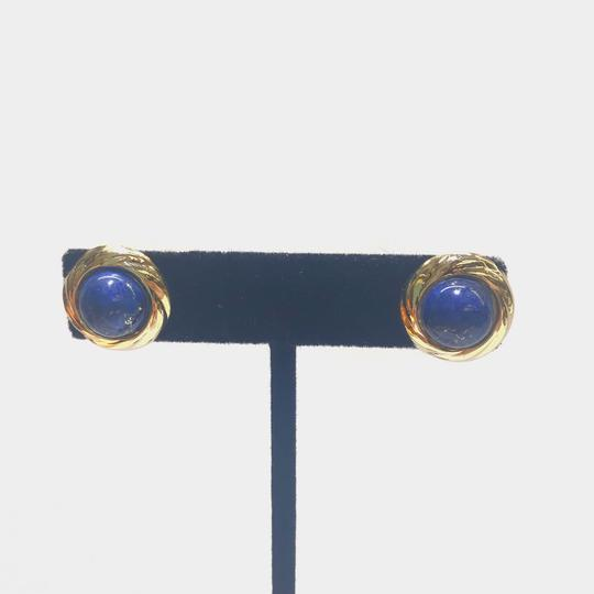 Other GORGEOUS!! VINTAGE!! 14 Karat Yellow Gold and Lapis Earrings Image 1
