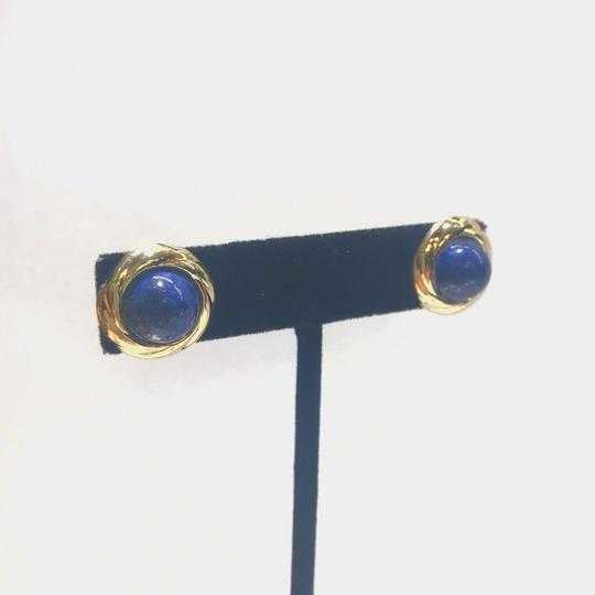 Other GORGEOUS!! VINTAGE!! 14 Karat Yellow Gold and Lapis Earrings Image 2