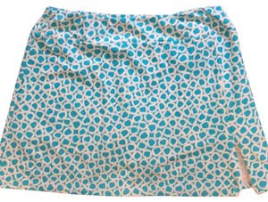 Jude Connally Mini Skirt Turquoise/white