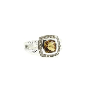 34ec7adf1 David Yurman David Yurman Sterling Silver .17tcw Citrine Diamond Petite  Albion Ring