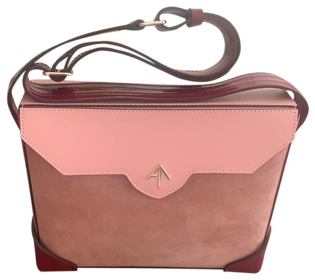 Item - Bold Combo Leather and Suede Shoulder Bag