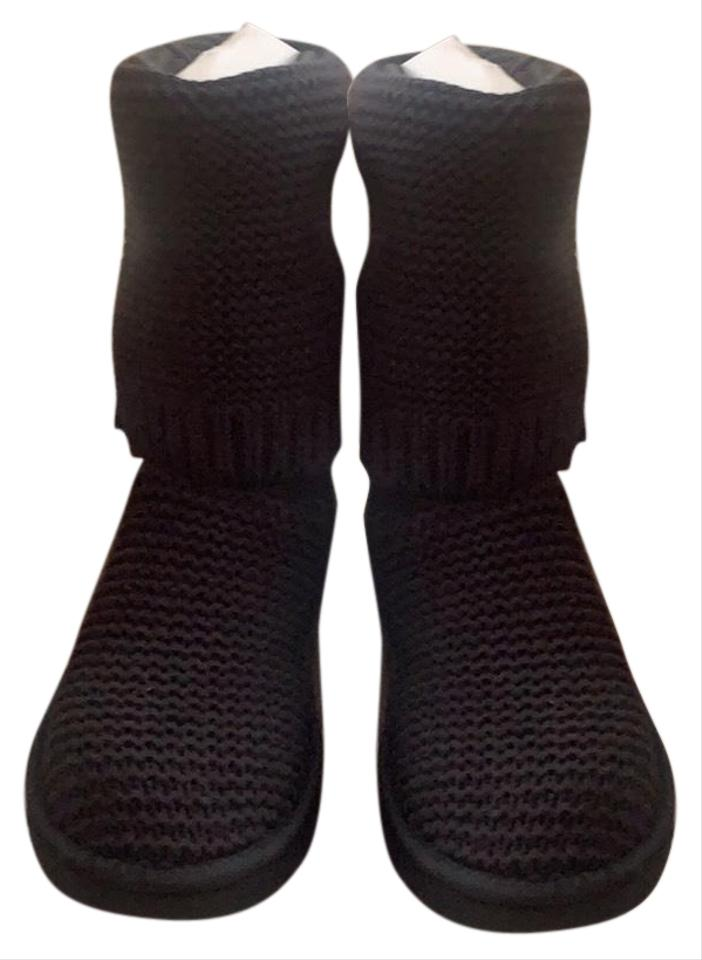 a53ec1b9c62 UGG Australia Black Purl Cardy Knit Boots/Booties Size US 7 Regular (M, B)  33% off retail