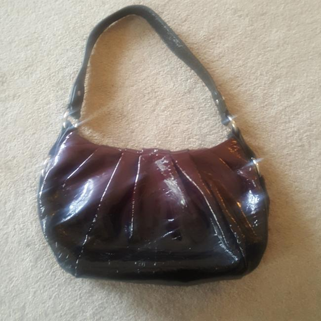 Item - Omni Ombre Eggplant and Black Patent Leather Hobo Bag