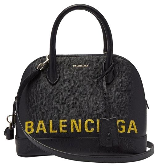Preload https://img-static.tradesy.com/item/25561375/balenciaga-ville-s-black-with-yellos-letters-leather-shoulder-bag-0-1-540-540.jpg
