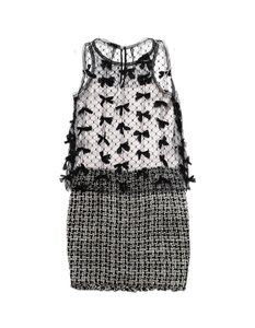 Chanel Tweed Mesh Bows Dress
