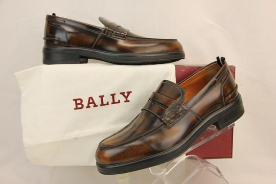 Bally Brown Mody Honey Brushed Leather Penny Loafers 11.5 Us 44.5 Swiss Shoes Image 1