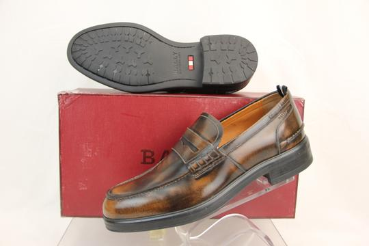 Bally Brown Mody Honey Brushed Leather Penny Loafers 11.5 Us 44.5 Swiss Shoes Image 2