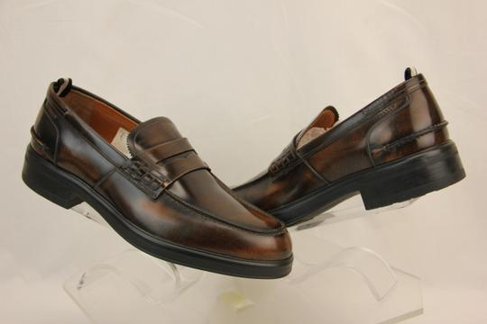 Bally Brown Mody Honey Brushed Leather Penny Loafers 11.5 Us 44.5 Swiss Shoes Image 3