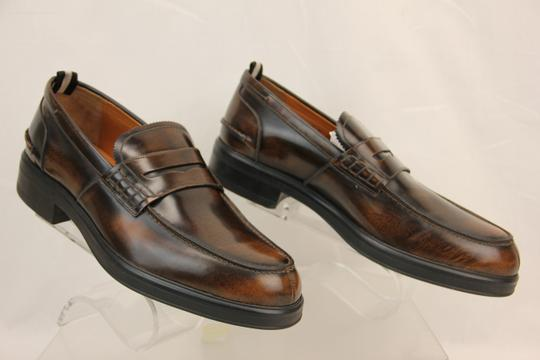 Bally Brown Mody Honey Brushed Leather Penny Loafers 11.5 Us 44.5 Swiss Shoes Image 4