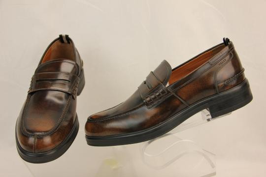 Bally Brown Mody Honey Brushed Leather Penny Loafers 11.5 Us 44.5 Swiss Shoes Image 5