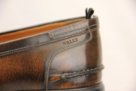Bally Brown Mody Honey Brushed Leather Penny Loafers 11.5 Us 44.5 Swiss Shoes Image 6