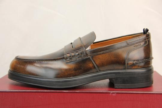 Bally Brown Mody Honey Brushed Leather Penny Loafers 11.5 Us 44.5 Swiss Shoes Image 8
