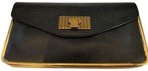 Chloé black and gold Clutch