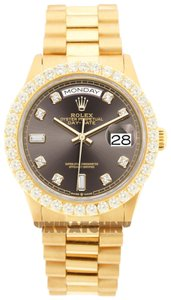 Rolex 3ct 36mm Datejust 18k Gold Presidential with & Appraisal