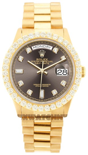 Preload https://img-static.tradesy.com/item/25561876/rolex-brown-dial-3ct-36mm-datejust-18k-gold-presidential-with-and-appraisal-watch-0-1-540-540.jpg