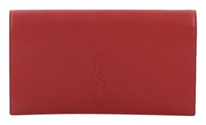 Saint Laurent Leather red Clutch