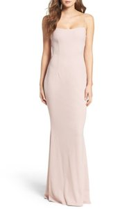 Katie May Dusty Rose Textured Crepe Jean Lace Up #katim30031 Sexy Bridesmaid/Mob Dress Size 14 (L)
