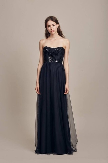 Item - Black Sequined Lace Gb013 Formal Bridesmaid/Mob Dress Size 14 (L)