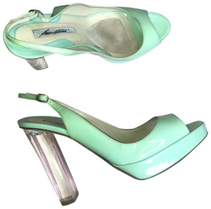 Brian Atwood mint green Platforms