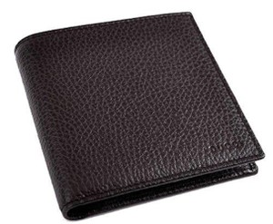 Gucci Gucci Men's Dark Brown Pebbled Leather Trifold Wallet Gucci 333042