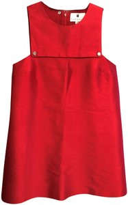 Lisa Perry short dress Bright Red New York Usa Apron on Tradesy