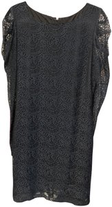 Mark & James by Badgley Mischka Mesh Lace Sheer Sleeves Dress