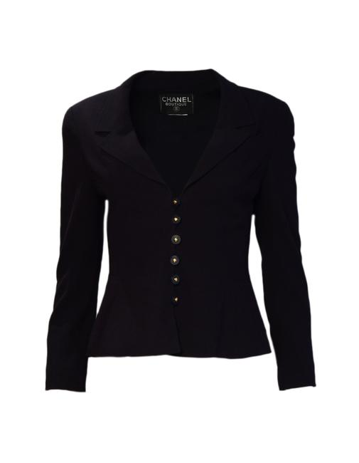 Item - Navy Two-piece Wool Skirt Suit Size 4 (S)