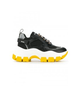 Prada Black White Yellow Athletic