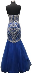 2Cute Prom Strapless Beaded Mermaid Dress