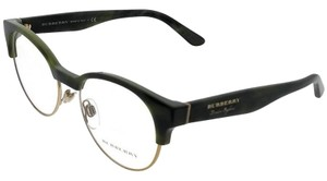 Burberry BE2261-3659-50 Round Women's Gold Frame Clear Lens Genuine Eyeglasses