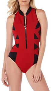 Miraclesuit Magicsuit by Miraclesuit Blake Scuba Zip-Front One-Piece Swimsuit