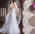 Long 3m/10 Ft White/Ivory Lace Cathedral Bridal Veil