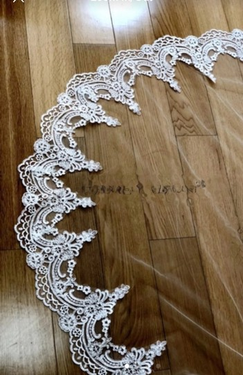 Long 3m/10 Ft White/Ivory Lace Cathedral Bridal Veil Image 4
