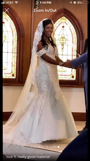 Long 3m/10 Ft White/Ivory Lace Cathedral Bridal Veil Image 7