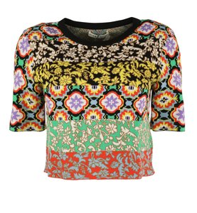 Alice + Olivia Viscose Polyester Elastic Sweater