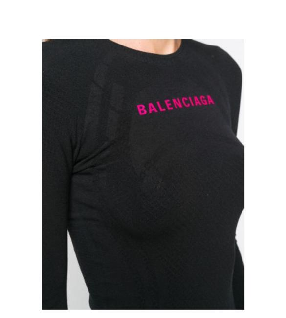 Balenciaga Gr New Balenciaga logo printed Athletic top T-shirt S Image 4