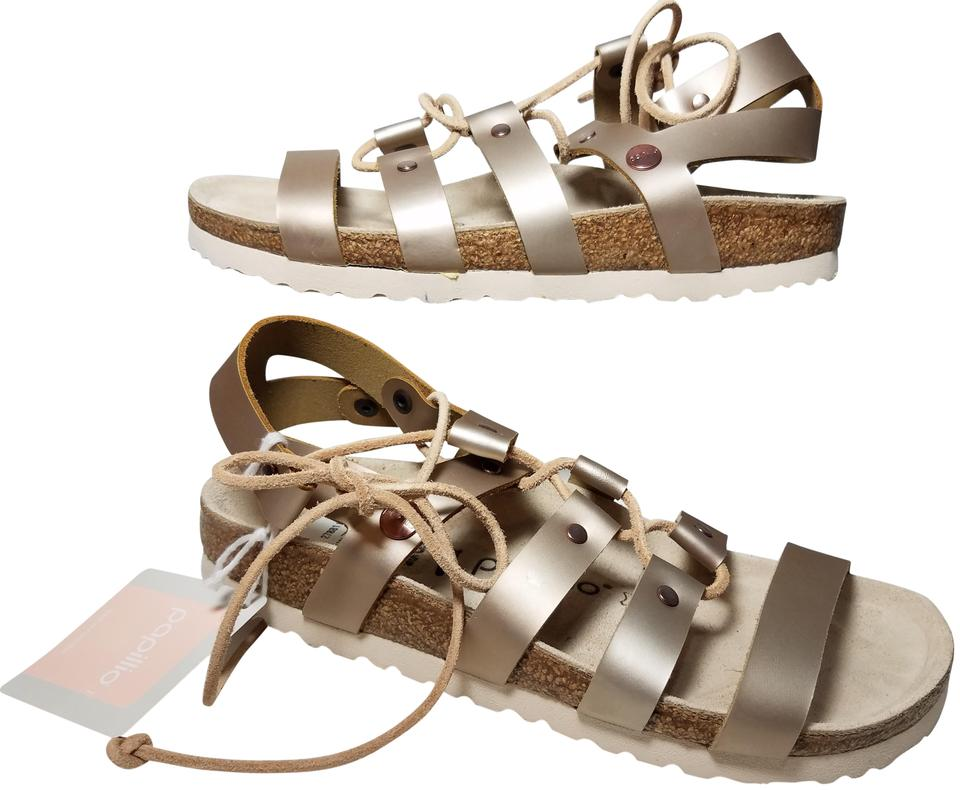 sale retailer 03fa8 0e64c Birkenstock Soft Rose Gold Papillio Cleo Gladiator Sandals Size EU 38  (Approx. US 8) Narrow (Aa, N)