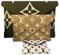 Louis Vuitton Khaki Monogram Green Clutch