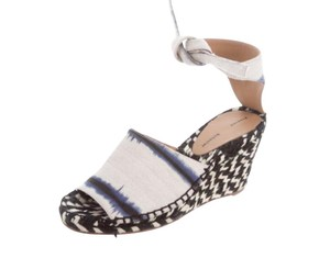 Proenza Schouler Navy white Wedges
