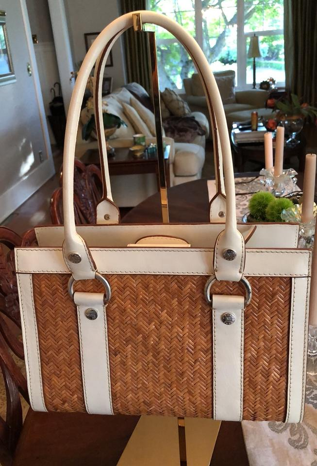 Retail And Shopper Tote Rattan Natural 72Off Michael Kors Sanibel White Leather e2EHW9IYDb